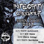 INTEGRITY  来日tour w/Creepout 10/6~