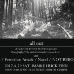 all out(pre-the T.V. DINNERS)復活ライブ フォトレポート